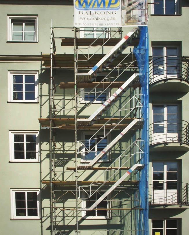 Bygga nya balkonger fastighet Stockholm