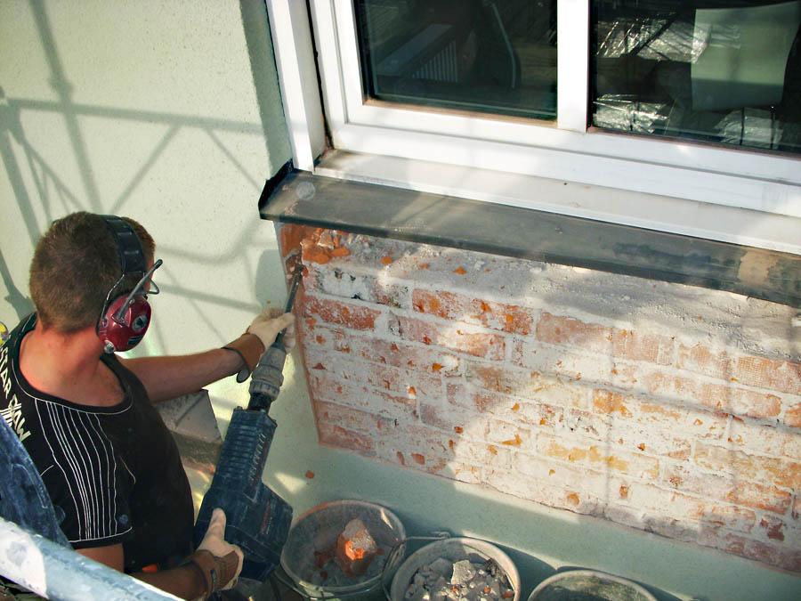 Upptagning för nya balkonger på fastighet